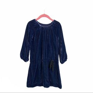 Burberry | 5T Velour Blue Dress Holiday Dressy
